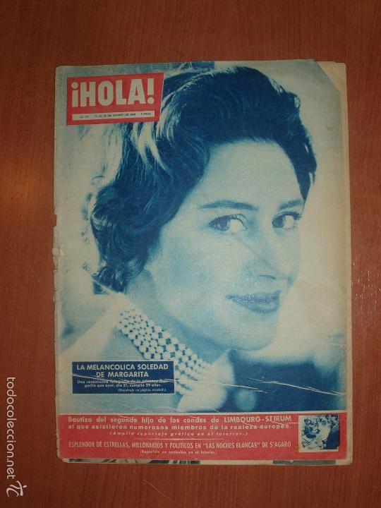 REVISTA ILUSTRADA HOLA. Nº 782, AÑO 1959. BAUTIZO SEGUNDO HIJO CONDES LIMBOURG... (Coleccionismo - Revistas y Periódicos Modernos (a partir de 1.940) - Revista Hola)