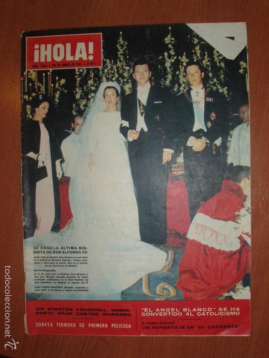 REVISTA ILUSTRADA HOLA. Nº 1066, AÑO 1965. CASAMIENTO ULTIMA BISNIETA DE DON ALFONSO XII.... (Coleccionismo - Revistas y Periódicos Modernos (a partir de 1.940) - Revista Hola)