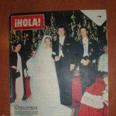 Coleccionismo de Revista Hola: REVISTA ILUSTRADA HOLA. Nº 1066, AÑO 1965. CASAMIENTO ULTIMA BISNIETA DE DON ALFONSO XII..... Lote 58434291