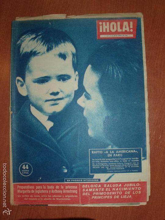 REVISTA ILUSTRADA HOLA. Nº 817, AÑO 1960. BODA PRINCESA MARGARITA DE INGLATERRA... (Coleccionismo - Revistas y Periódicos Modernos (a partir de 1.940) - Revista Hola)