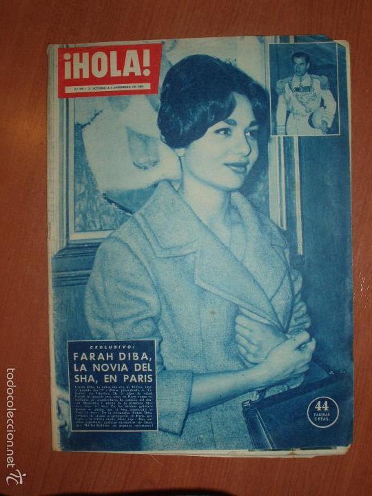 REVISTA ILUSTRADA HOLA. Nº 792, AÑO 1959. FARAH DIBA, LA NOVIA DEL SHA, EN PARIS.... (Coleccionismo - Revistas y Periódicos Modernos (a partir de 1.940) - Revista Hola)