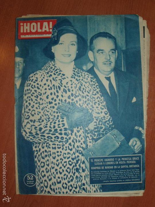 REVISTA ILUSTRADA HOLA. Nº 798, AÑO 1959. PRINCIPE RAINIERO Y LA PRINCESA GRACE..... (Coleccionismo - Revistas y Periódicos Modernos (a partir de 1.940) - Revista Hola)