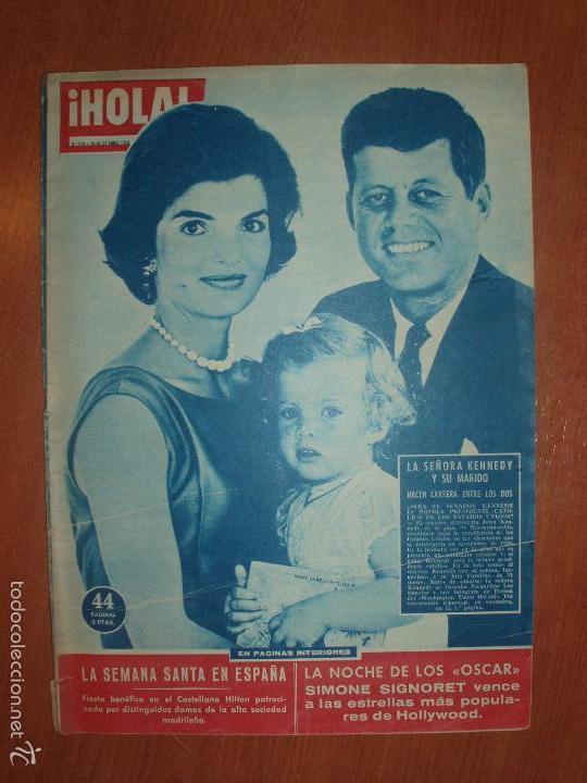 REVISTA ILUSTRADA HOLA. Nº 816, AÑO 1960. LA SEÑORA DE KENNEDY Y SU MARIDO, SEMANA SANTA EN ESPAÑA.. (Coleccionismo - Revistas y Periódicos Modernos (a partir de 1.940) - Revista Hola)