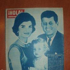 Coleccionismo de Revista Hola: REVISTA ILUSTRADA HOLA. Nº 816, AÑO 1960. LA SEÑORA DE KENNEDY Y SU MARIDO, SEMANA SANTA EN ESPAÑA... Lote 58434371