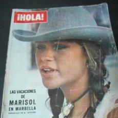 Coleccionismo de Revista Hola: REVISTA HOLA AGOSTO 1971 MARISOL EN MARBELLA . Lote 59468350