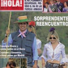 Coleccionismo de Revista Hola: REVISTA HOLA Nº 3436 AÑO 2010. FRANCISCO RIVERA Y EUGENIA. SIMONETA GOMEZ-ACEBO. REY JUAN CARLOS.. Lote 59901503