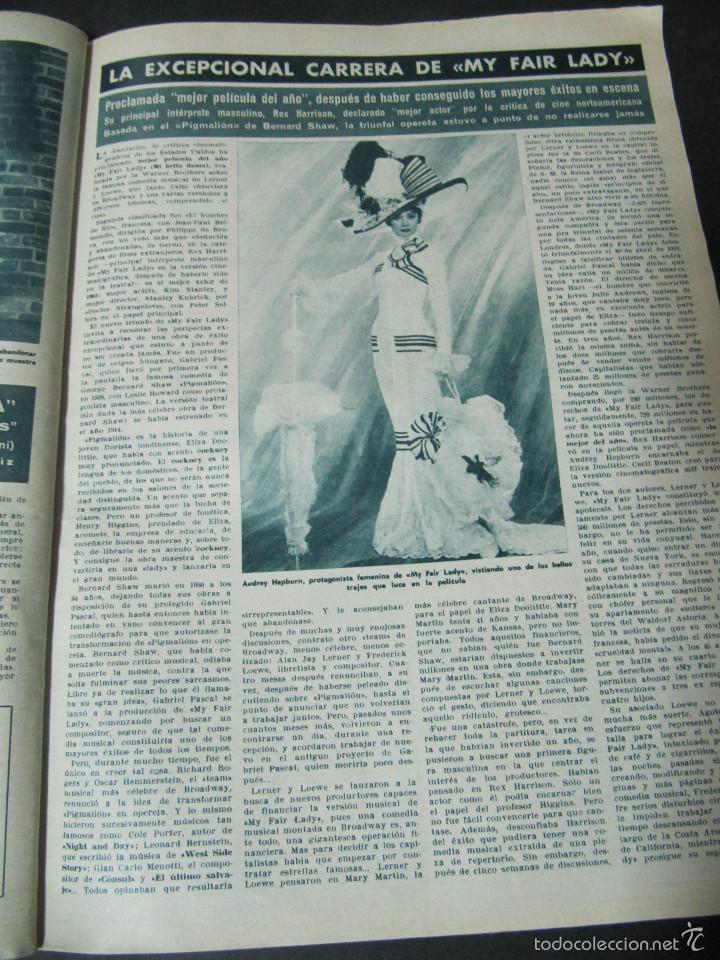 Coleccionismo de Revista Hola: REVISTA HOLA REPORTAJE ESTRENO MY FAIR LADY AUDREY HEPBURN REX HARRISON ENTREVISTA MARISOL - Foto 2 - 60551583