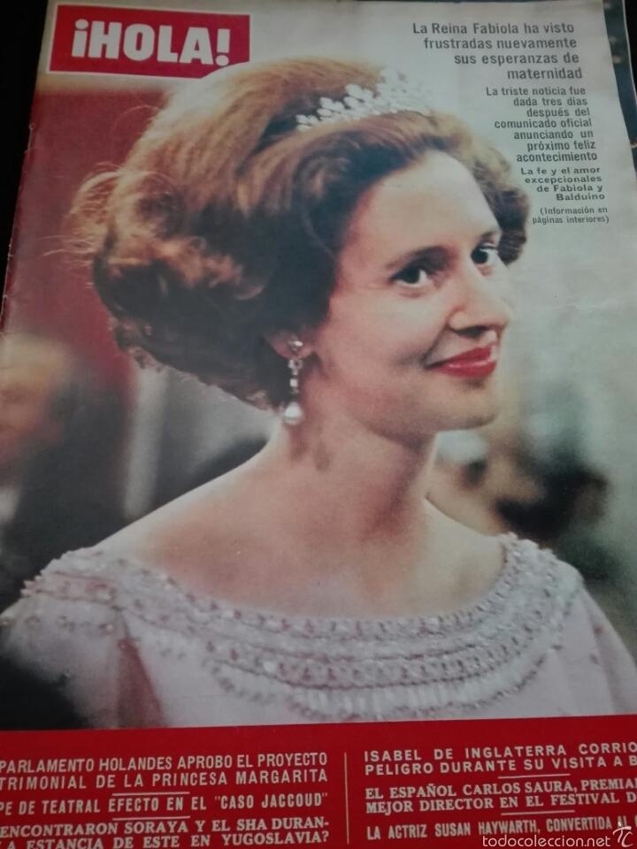 LA REINA FABIOLA / PORTADA Y REPORTAJE / REVISTA HOLA 1142 / 1966 / 13 (Coleccionismo - Revistas y Periódicos Modernos (a partir de 1.940) - Revista Hola)