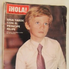 Coleccionismo de Revista Hola: REVISTA HOLA Nº 1.653 AÑO 1976: UNA TARDE CON EL PRINCIPE FELIPE - AMPLIO REPORTAJE A COLOR. Lote 60644835