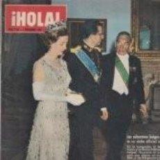 Coleccionismo de Revista Hola: EL REY BALDUINO Y LA REINA FABIOLA / PORTADA Y REPORTAJE / REVISTA HOLA 1058 / 1964 / 12. Lote 60676855