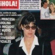 Coleccionismo de Revista Hola: CAROLINA DE MONACO / JULIO IGLESIAS / PRINCIPE FELIPE / REVISTA HOLA 2440 / 1991 / 10. Lote 61104419