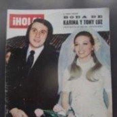 Coleccionismo de Revista Hola: BODA DE KARINA Y TONY LUZ / PORTADA Y REPORTAJE / REVISTA HOLA 1493 / 1973 / 14. Lote 61218315