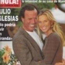 Coleccionismo de Revista Hola: JULIO IGLESIAS / PORTADA Y REPORTAJE / REVISTA HOLA 2731 / 1996 / 11. Lote 79948717
