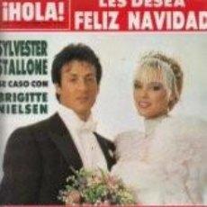 Coleccionismo de Revista Hola: REVISTA HOLA Nº 2158 AÑO 1985. BODA DE SYLVESTER STALLONE Y BRIGITTE NIELSEN. FAMOSOS EN NAVIDAD/6. Lote 62475544