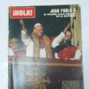 Coleccionismo de Revista Hola: REVISTA HOLA Nº 1.783. OCTUBRE 1978: JUAN PABLO II EL PRIMER PAPA POLACO DE LA HISTORIA. TDKR22. Lote 62583280