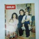 Coleccionismo de Revista Hola: REVISTA HOLA Nº 1637. 16 DE ENERO DE 1976. ENTREVISTA A RAPHAEL Y FAMILIA. TDKR22. Lote 62585436