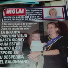 Coleccionismo de Revista Hola: REVISTA HOLA AÑO 2000,ISABEL Y CHABELITA EN EL ESCENARIO,JENNIFER LOPEZ,SIDNEY,ANTONIA DELL ATTE. Lote 62614428