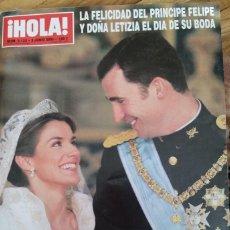 Coleccionismo de Revista Hola: HOLA Nº 3122 BODA FELIPE Y LETIZIA. Lote 63469428