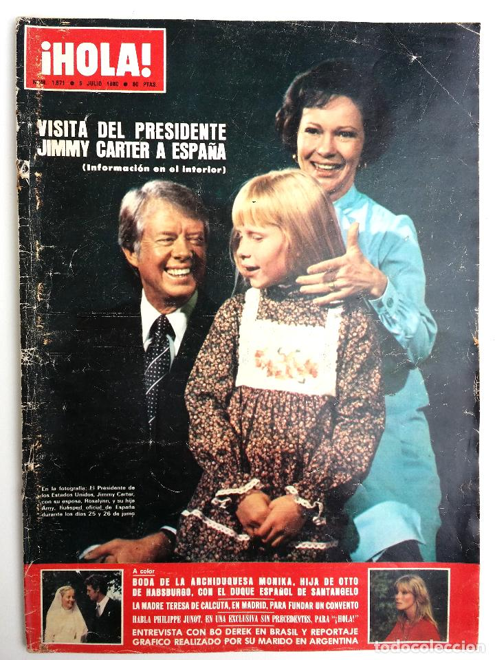 REVISTA HOLA JULIO 1980. (Coleccionismo - Revistas y Periódicos Modernos (a partir de 1.940) - Revista Hola)