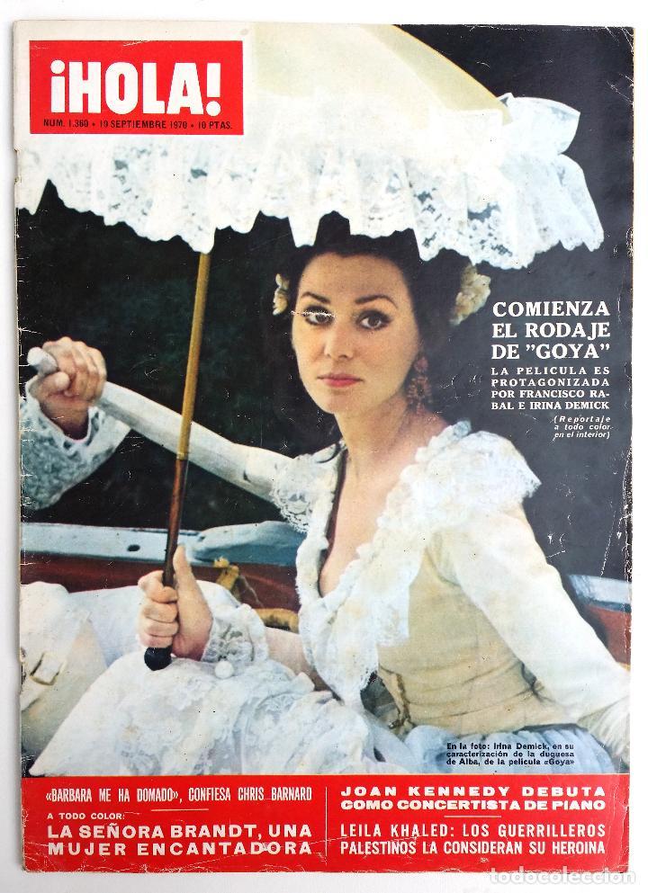 REVISTA HOLA SEPTIEMBRE 1970. (Coleccionismo - Revistas y Periódicos Modernos (a partir de 1.940) - Revista Hola)