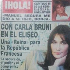 Coleccionismo de Revista Hola: CARLA BRUNI REPORTAJE REVISTA HOLA!. Lote 64189683