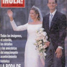Coleccionismo de Revista Hola: BODA DE LA INFANTA CRISTINA E IÑAKI URDANGARIN. Lote 30584114