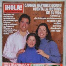 Coleccionismo de Revista Hola: REVISTA HOLA, Nº 2694. 28 MARZO 1996. CARMEN MARTINEZ-BORDIU. Lote 69691621