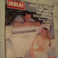 Coleccionismo de Revista Hola: REVISTA HOLA Nº 2817 AGOSTO 1998 JULIO IGLESIAS. Lote 69961409