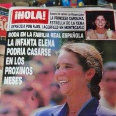 Coleccionismo de Revista Hola: REVISTA HOLA INFANTA ELENA. Lote 71464223