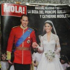 Coleccionismo de Revista Hola: HOLA LA BODA DEL PRÍNCIPE GUILLERMO. Lote 71483237