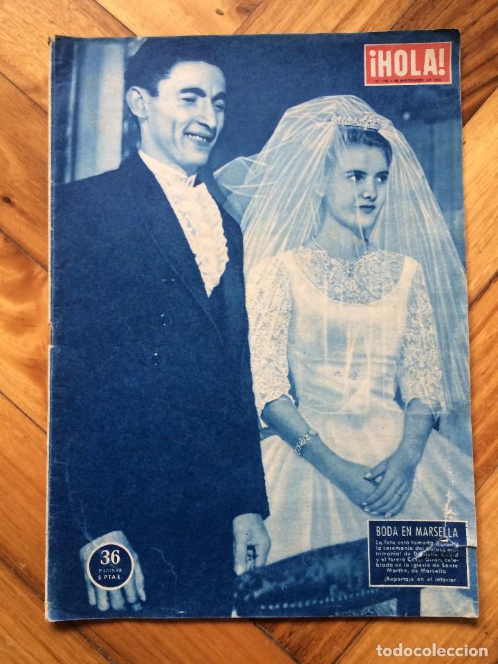 REVISTA HOLA Nº744 AÑO 1958 (Coleccionismo - Revistas y Periódicos Modernos (a partir de 1.940) - Revista Hola)