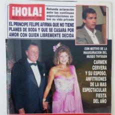 Coleccionismo de Revista Hola: REVISTA HOLA OCTUBRE 1992. Lote 99770852
