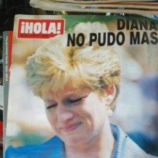 Coleccionismo de Revista Hola: HOLA DIANA NO PUDO MÁS. Lote 74796946