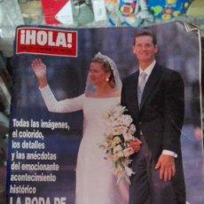 Coleccionismo de Revista Hola: REVISTA HOLA Nº 2775 AÑO 1997. BODA INFANTA CRISTINA E IÑAKI URDANGARIN.. Lote 75493691