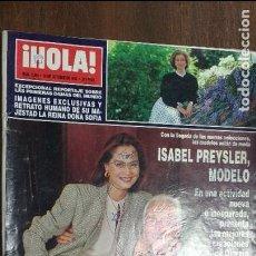Coleccionismo de Revista Hola: HOLA Nº 2566 ISABEL PREYSLER,DOÑA SOFIA..... Lote 78216449