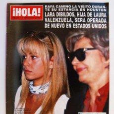 Coleccionismo de Revista Hola: REVISTA HOLA Nº 2533. FEBRERO 1993. RAFA CAMINO, LARA DIBILDOS, INFANTA CRISTINA. Lote 83153340