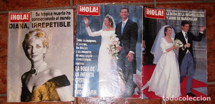 3 REVISTA HOLA MUERTE DIANA DE GALES 1997 - BODA INFANTA CRISTINA 1997 Y ELENA 1995 (Coleccionismo - Revistas y Periódicos Modernos (a partir de 1.940) - Revista Hola)
