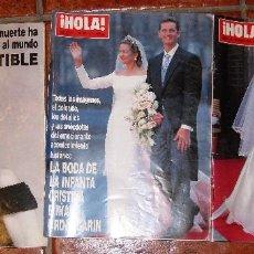 Coleccionismo de Revista Hola: 3 REVISTA HOLA MUERTE DIANA DE GALES 1997 - BODA INFANTA CRISTINA 1997 Y ELENA 1995. Lote 83864048