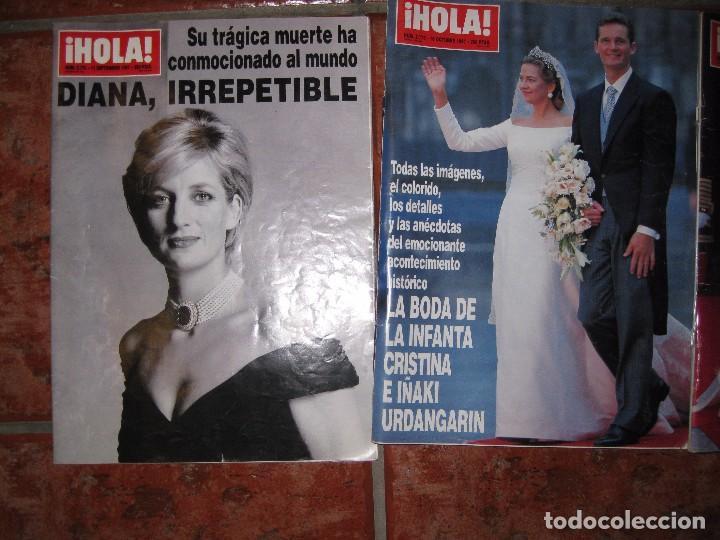 Coleccionismo de Revista Hola: 3 revista hola muerte diana de gales 1997 - boda infanta cristina 1997 y Elena 1995 - Foto 2 - 83864048