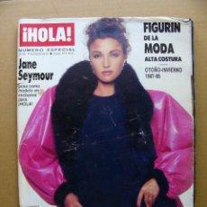 Coleccionismo de Revista Hola: REVISTA HOLA FIGURIN DE LA MODA ESPECIAL JANE SEYMOUR OTOÑO INVIERNO 1987 1988 - DIFICIL. Lote 131198848