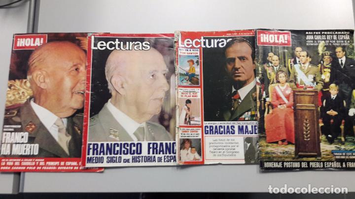 PACK REVISTAS HOLA Y LECTURAS EN FECHAS MUERTE DE FRANCO, CORONACIÓN REY Y 23 F (Coleccionismo - Revistas y Periódicos Modernos (a partir de 1.940) - Revista Hola)