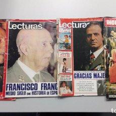 Coleccionismo de Revista Hola: PACK REVISTAS HOLA Y LECTURAS EN FECHAS MUERTE DE FRANCO, CORONACIÓN REY Y 23 F. Lote 88146936