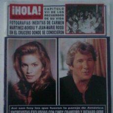 Coleccionismo de Revista Hola: HOLA Nª2700 RICHARD GERE 1996. Lote 88357040