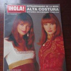 Coleccionismo de Revista Hola: REVISTA HOLA EXTRAORDINARIO ESPECIAL MODA ALTA COSTURA OTOÑO INVIERNO 1993-1994-CARLA BRUNI. Lote 97347328