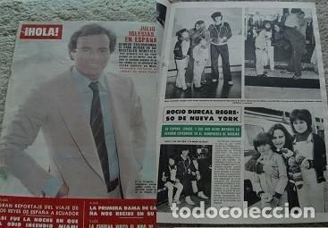 REVISTA HOLA 1980 ROCÍO DÚRCAL JULIO IGLESIAS (Coleccionismo - Revistas y Periódicos Modernos (a partir de 1.940) - Revista Hola)