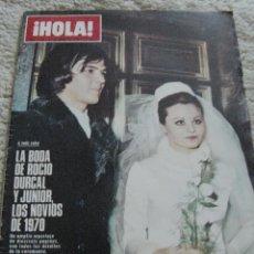 Coleccionismo de Revista Hola: REVISTA HOLA 1970 ROCÍO DÚRCAL. Lote 90815375