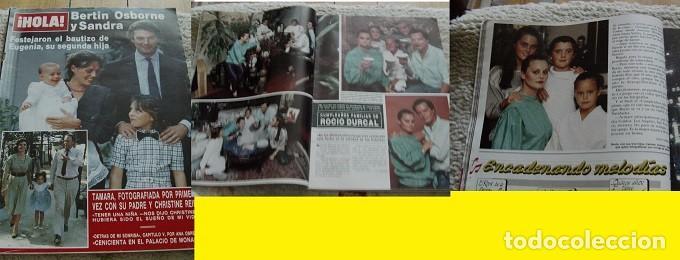 REVISTA HOLA 1986 ROCÍO DÚRCAL BERTÍN OSBORNE (Coleccionismo - Revistas y Periódicos Modernos (a partir de 1.940) - Revista Hola)