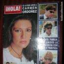 Coleccionismo de Revista Hola: (F.1) REVISTA HOLA 3131 AÑO 2004( ISABEL PANTOJA TRAS CONOCER LA NOTICIA DE LA MUERTE DE CARMEN ORDO. Lote 91341490