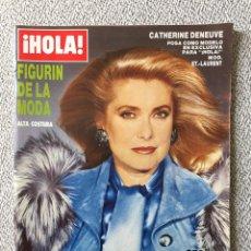 Collezionismo di Rivista Hola: FIGURÍN DE LA MODA ALTA COSTURA OTOÑO INVIERNO 1986-1987 CATHERINE DENEUVE CHANEL DIOR VINTAGE. Lote 144848048
