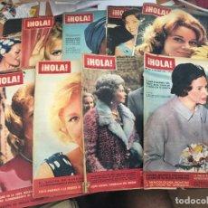 Coleccionismo de Revista Hola: LOTE 38 REVISTAS HOLA AÑOS 1958 A 1964 (HOLA-B). Lote 95720851